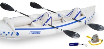 Skimming the Waterways with Superiority it's the Sea Eagle SE370 Pro Sports Kayak!